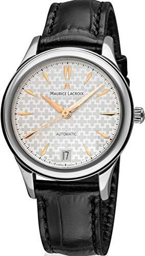 Reloj Maurice Lacroix LC6026-SS001-133-1 - Reloj con Correa de Piel Negra y Caja Plateada