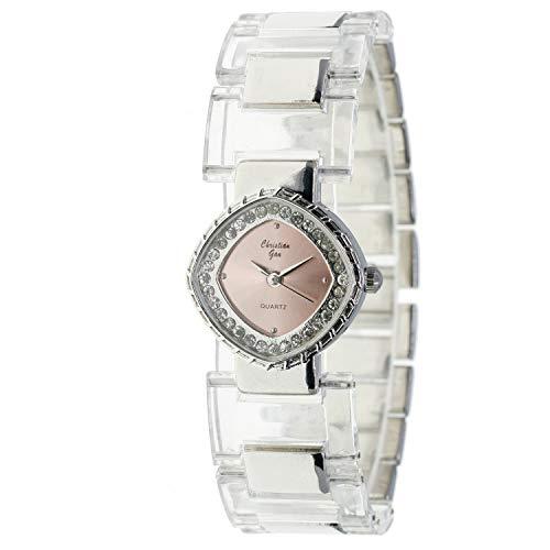 Christian Gar Cg-88548-9 Reloj Analógico para Mujer Caja De Metal Esfera Color Rosa