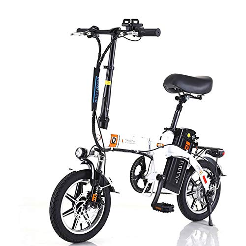 GUOJIN Bicicleta Electrica Plegables, 240W Motor Bicicleta Plegable 25 km/h, Bici Electricas Adulto con Ruedas de 14
