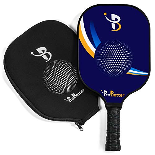 ProBetter Pickleball Paddle - USAPA Approved - Graphite Face Honeycomb Core - Edge Guard - Pickleball Racket Cover - Premium Cushion Grip Provides Perfect Balance Power Control for All Players