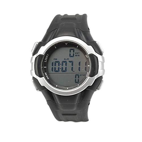 Goldyqin P3158 Gummi männer Frauen Sport Outdoor professionelle smart Watch wasserdicht wecker schrittzähler Sport smartwatch - schwarz
