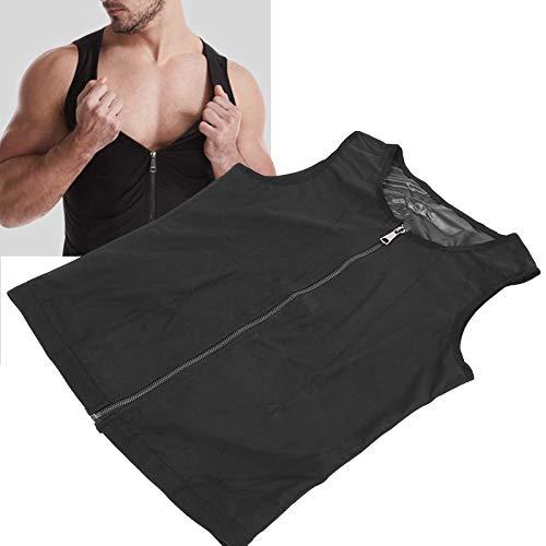 Pwshymi Chaleco de sauna práctico chaleco ligero para hombres para el cuidado de la salud para añadir comodidad (S/M)