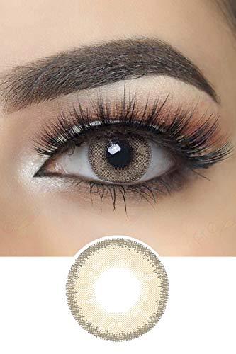 Glow Farbige Kontaktlinsen Jahreslinsen (Gray Caramel)