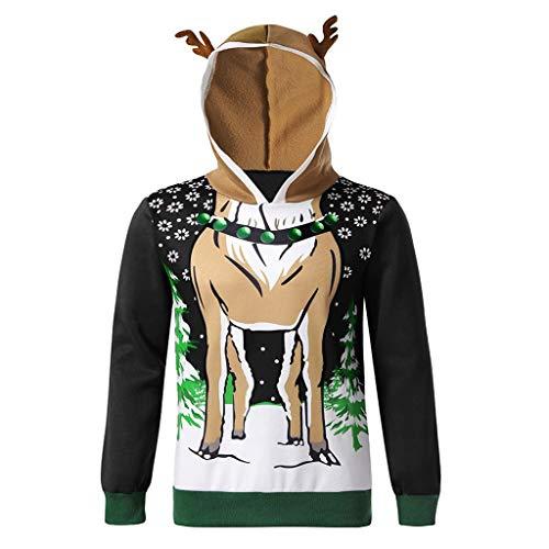 SUMTTER Weihnachten Rentierpullover Damen Elch Pullover Herren Rentier kostüm Sweatshirt Plüsch Kapuzenpullover Sale