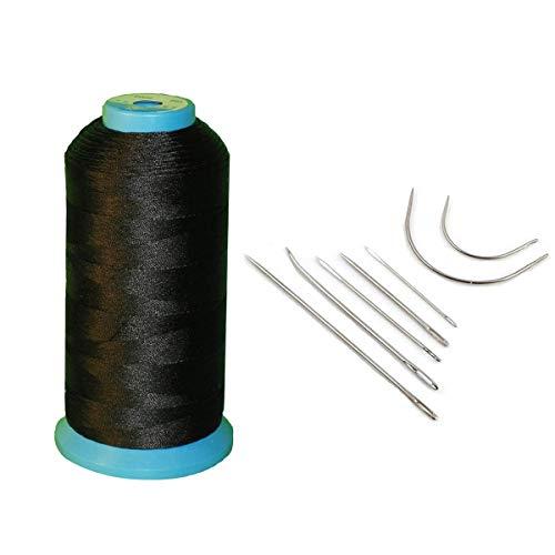 Haobase Black Bonded Nylon Sewing Thread 1500 Yard Size T70 #69