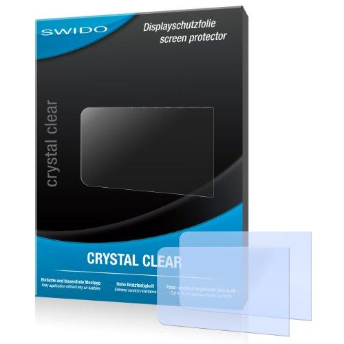 SWIDO Y040632 kristallklar hartbeschichtet Displayschutzfolie für Philips GoGear SA3MUS08S02 Muse 8GB (2-er Pack)