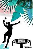 Spikeball Geschenk Spikeballerin Spikeballspielerin Spikeballnetz Roundnet Buch Notizbuch A5: 120 Seiten A5 Format Dot Grid   Notizbuch Planer
