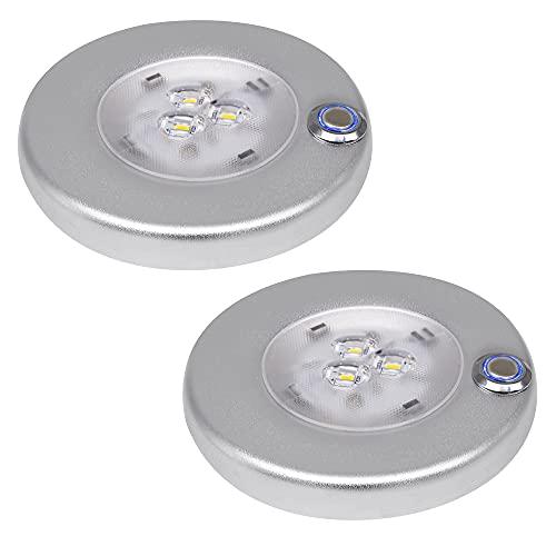 Facon 12 V, 3 W 4 Pulgadas Luces Interiores LED de Montaje en Superficie con Interruptor de Encendido/Apagado Regulable para Barco, Remolque, Caravana, Autocaravana