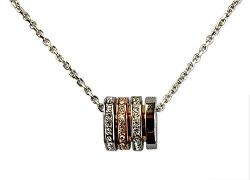 Swarovski Damen Halskette Chain Silber, Rosegold, Kristalle, 5190009