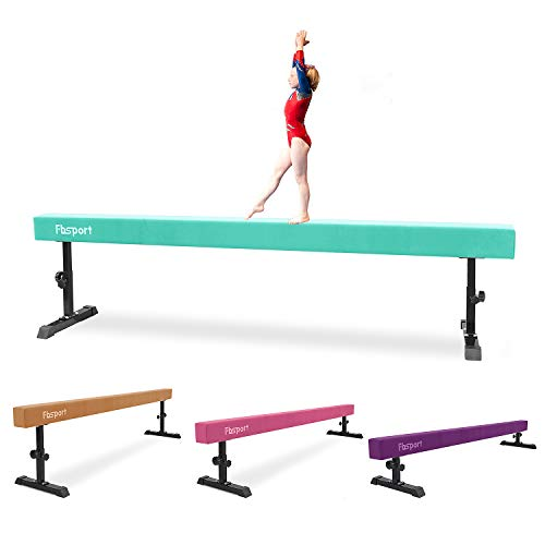 FBSPORT 8ft Adjustable Balance Beam: High and Low Floor Beam Gymnastics Equipment for Kids/Adults,Gymnastics Beam for Training,Practice, Physical Therapy and Professional Home Training with Legs