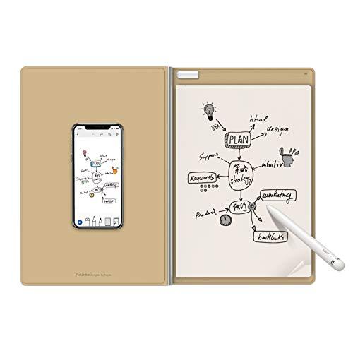 Royole RoWrite2– Smart Writing Pad digitaler Notizblock mit echtem Papier und Stift für Büro und Geschäft. Handschrift digital erfassen und in Text umwandeln.