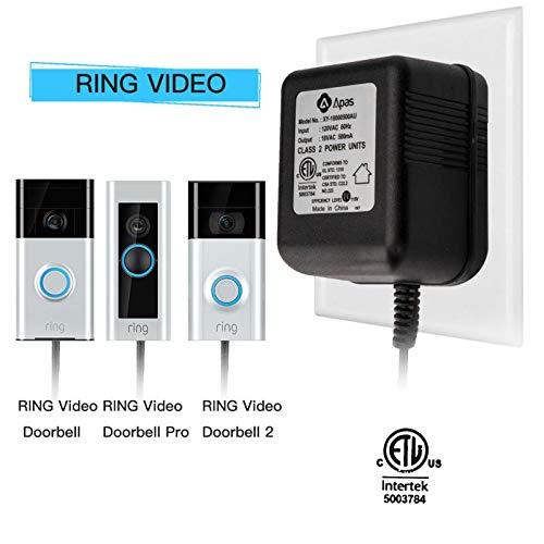 Power Adapter, Video Doorbell Power Supply 18 VAC , Transformer for Video Doorbell, Video Doorbell Pro, Nest Hello Doorbell - ETL Certificate