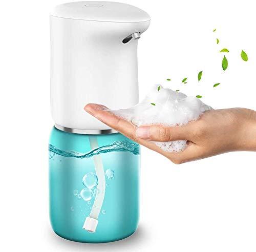 vcloo Dispensador de Jabón Automático - Cargador de Dispensador de jabón automático con Carga USB con Bomba de Sensor infrarrojo Inteligente para baño,Cocina,Oficina