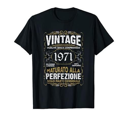 50 Anni di Compleanno Vintage 1971 Uomo Donna Annata 1971 Maglietta
