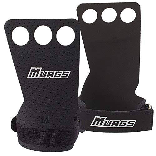 Murgs Panther Grips - 3 Hole (Pair) - Gymnastic Grips for Crossfit, Pull...