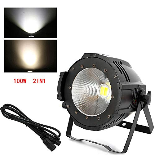 2 in 1 COB LED Audience schijnwerper podiumverlichting 100W podiumlamp lichteffect DMX schijnwerper discolamp DJ strobe Light LED-lamp PAR voor DJ Disco Stage Party warm wit / koud wit