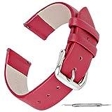 Zeit Diktator Correa de reloj inteligente 18mm 20mm 22mm Correa de reloj de cuero vintage para huawei GT/watch fit/ Amazfit GTR 42mm/GTR 47mm correa de reloj de liberación rápida… (Passion red, 22mm)