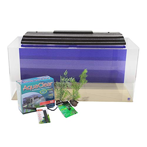 SeaClear 40 Gallon Acrylic Aquarium Junior Executive Kit Cobalt Blue; 36' L x 15' W x 16' High