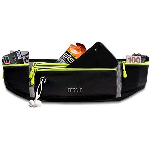 Ferswe Laufgürtel für Handy, Sport Hüfttasche Lauftasche Leichtgewicht für Jogging, Laufen, Fitness, Passt Alle Handys bis zu 6,8 Zoll