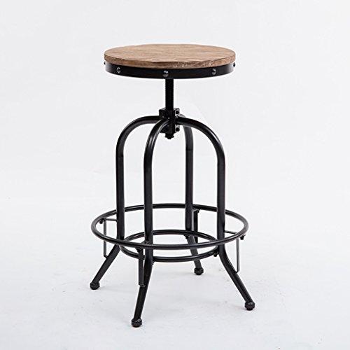 LI Jing Shop - Tabouret Haut de Barstool pour la Chaise Longue de Rotation de Fer Vintage de Bar Cafe Loft (Taille : 38X38X61-77cm)