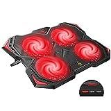 Hiwings Ultra-Silenzioso Base Raffreddamento PC Portatile, Base di Raffreddamento per Notebook con 4 Ventola PC Portatile per MacBook 12 -17.3 Pollici