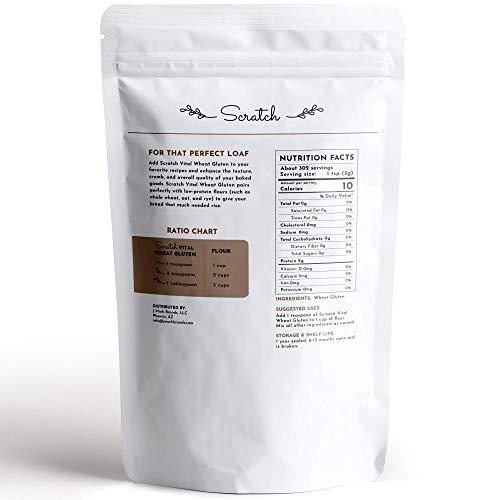 Scratch Premium Vital Wheat Gluten - High Protein, Low Carb, Vegan, Non GMO Gluten Powder (2 Pound)