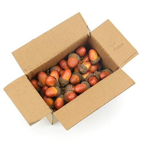 LENVHFKJ Billig 20 stücke 3cm Eicheln Mini Künstliche Gefälschte Schaum Früchte und Gemüse Beeren Blumen Für Hochzeit Weihnachtsbaum Dekoration (Color : Brown, Size : M)