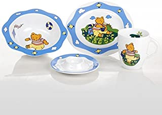 Cmielow Porcelain Child's Fine China Porcelain Set Bear Theme Hand Made Hand Painted in Poland