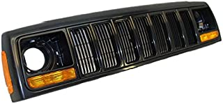 97-01 JEEP CHEROKEE GRILLE BLACK HEADER PANEL PAKR SIDE MARKER LAMP 8PCS
