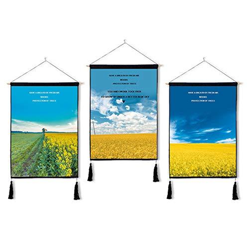 Sunflower weizen hängen Tuch Home Office Baumwolle leinen Kunst malerei Tapisserie dekorative malerei V 46 * 65 cm * 3