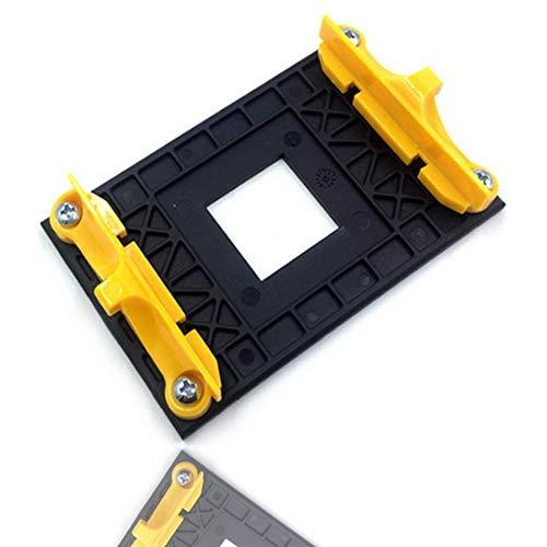 Placa Posterior De La CPU, Placa Posterior De Plástico para El Estante Inferior del Ventilador del Radiador Adecuado para El Soporte AM4 AMD B350 X370 A320 Motherboard (Yellow)