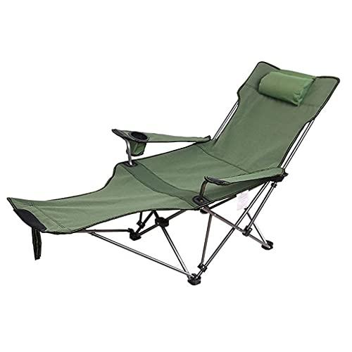 BJH Sedia da Campeggio reclinabile con poggiapiedi Sedia Pieghevole in Rete Regolabile Prato da Viaggio Portatile da Spiaggia per Adulti Picnic di Pesca 330 libbre