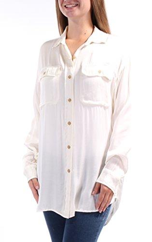 Ralph Lauren Damen Hemd mit Knopfleiste - Elfenbein - Klein