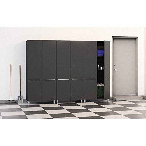 "Hot Sale Ulti-MATE Garage 3-Piece Storage Cabinet Kit (Graphite Grey and Black) (80""H x 9'W x 21""D)"