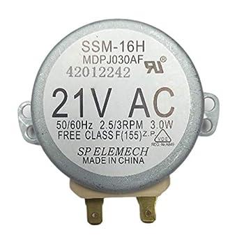 GOODS-PRO Authorized OEM Part WB26X10038  SSM-16H MDPJ030AF  Microwave Turntable Motor for GE Frigidaire Replaces 5304408980 AP2024962 PS237772 769741 DE31-10172A AH237772 DE31-10172B