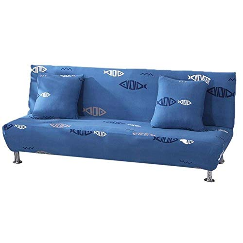 Lsqdwy All-Inclusive-Sofabezug Tight Wrap Elastic Protector Schonbezüge ohne Armlehne Bedruckte Schlafsofa-Sofabezüge, O, 160-190 cm