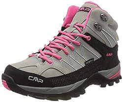 CMP – F.lli Campagnolo Damen Rigel Mid Wmn Shoe Wp Trekking-& Wanderstiefel, Grau (Glacier-Gloss 24TE), 38 EU