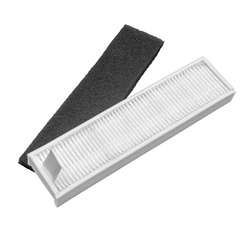 vhbw Filtro compatible con Ecovacs Deebot DA60, DA610, DM81, DM88, DMarvel, DN78, DR95, DR96 aspiradora filtro de polvo fino