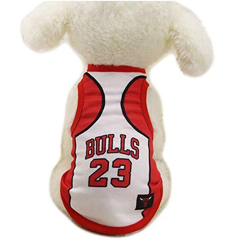 Ropa para Perros Camiseta de Baloncesto de la NBA Disfraz de Perro de Jersey para Perros y Mascotas de Perros y Gatos Lakers,White,XXL