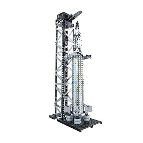 IPOT Puzzle de metal 3D, 1521 piezas de la serie espacial de cohete + rampa de lanzamiento, juguete de montaje para niños y adultos