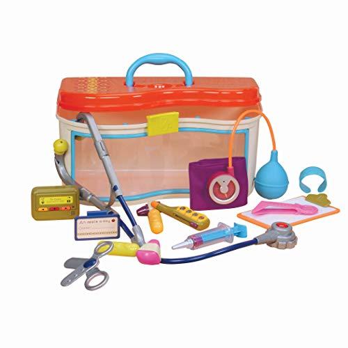 B. toys – Ensemble de médecin Wee MD – Jeu d'imitation –Trousse de docteur avec sons et lumières – Pour enfants de 18 mois et plus (14 pièces).