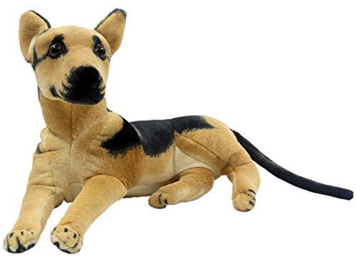 TAGLN Stuffed Animals Shepherd Dalmatian Beagle Dog Toys Plush (Shepherd, 14 Inch)