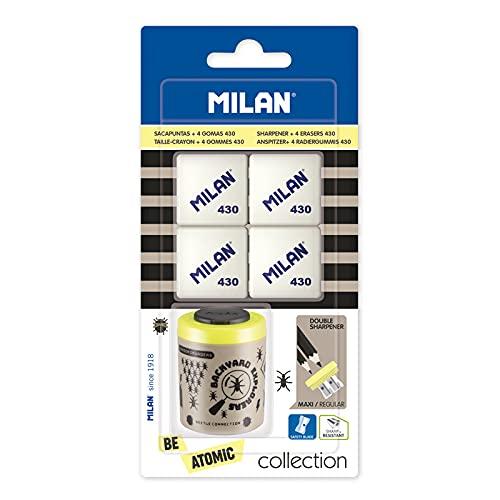 Blíster 1 sacapuntas Collection serie especial Be Atomic + 4 gomas de borrar 430