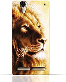 Sony Xperia T2 Ultra TPU Silicone Case with Lion Portrait Air Brush Pattern
