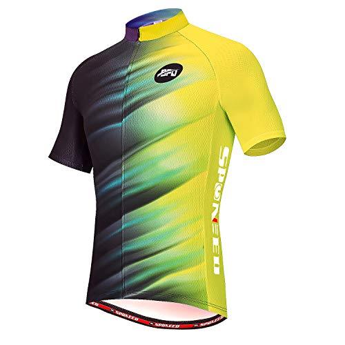 sponeed Men's Cycling Jerseys Tops Biking Shirts Short Sleeve Bike Clothing Full Zipper Bicycle...