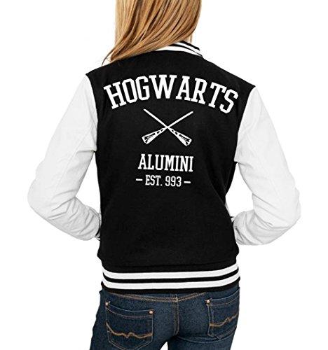 Certified Freak Hogwarts Alumini College Vest Girls Black M