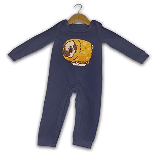 WushXiao Potato Puffs Long Comfort Baby Crawler schwarz Gr. 2 Jahre, navy