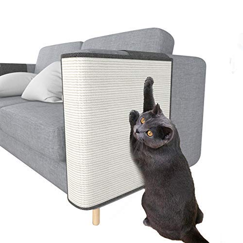 Protector de sofá rascador para gatos, de sisal natural para muebles, protección de gatos, sofá de esquina para cama, silla..