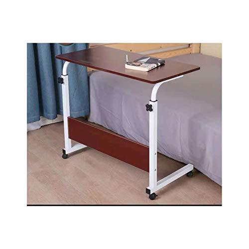 Laptoptisch Mit Rollen Laptop Höhenverstellbarer Tisch Mobile Lap Table (Color : 60 * 40 Teak Color)