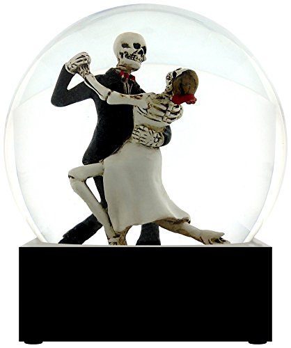 Skeleton Tango Dancers Water Globe